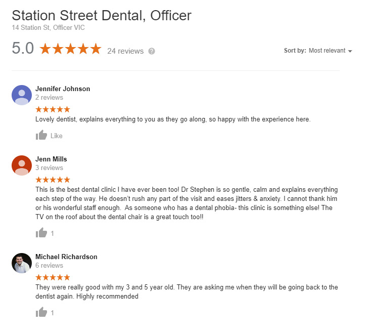 dentist in officer reviews